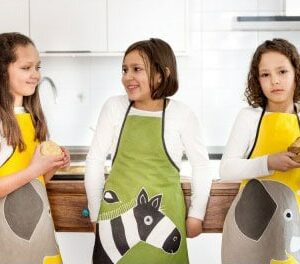 Yawama of Sweden - Children's aprons with elephant and zebra