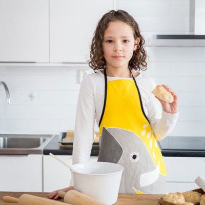 Yawama of Sweden - Children's apron with elephant