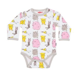 Who? by Stina Wirsén - Organic romper with the Who? characters