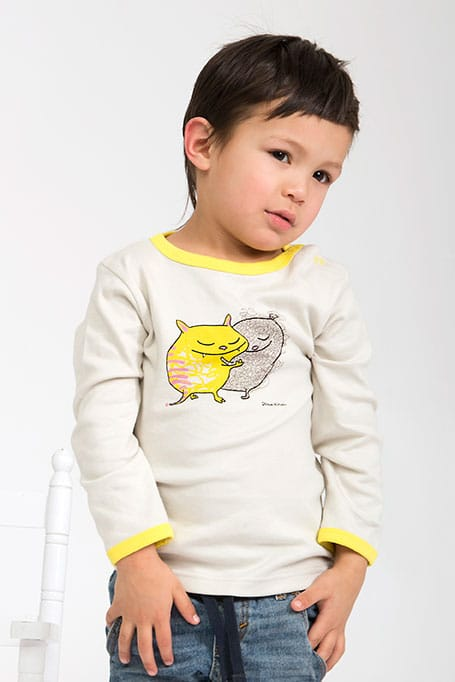 Who? by Stina Wirsén - Organic sweater with Cat and Teddy
