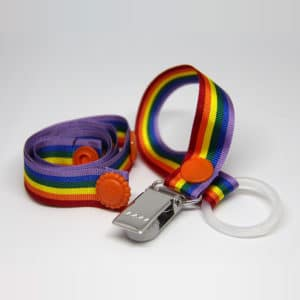 By Claudia - Set With Toy Strap and Dummy Holder in Rainbow Colours