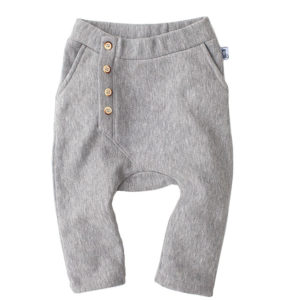 Bumble & Bee Organic Kidswear - Kids Grey Melange Slouch Pants