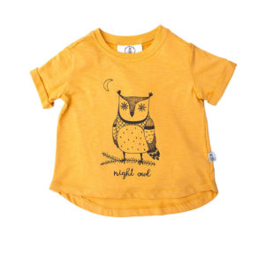 Bumble Bee Organic Kidswear - Yellow Kids T-shirt Night Owl