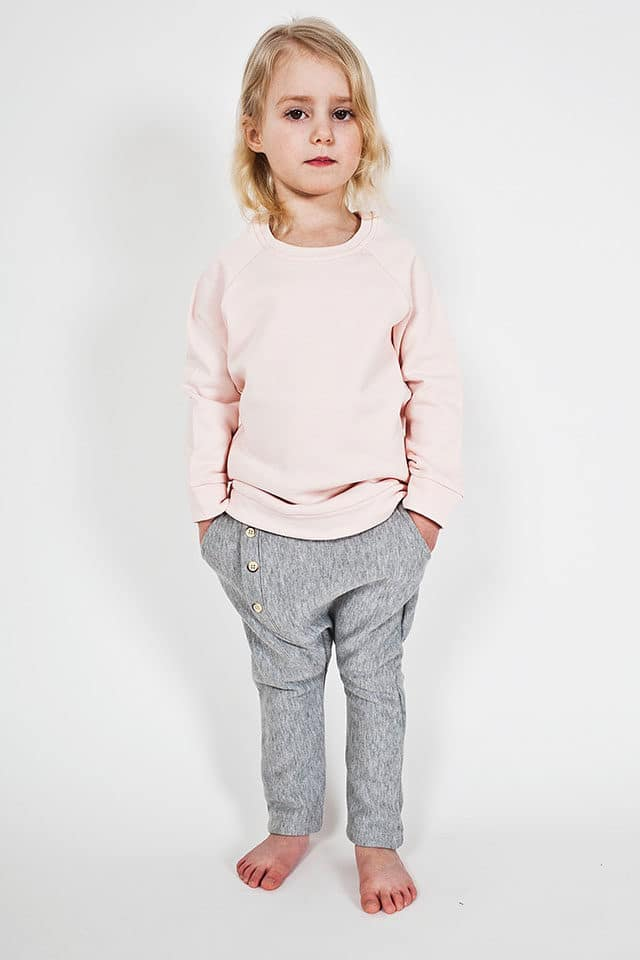 Bumble & Bee Organic Kidswear - Blush Tunic & Grey Pants