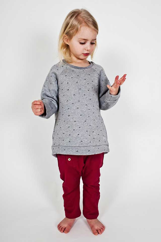 Bumble & Bee Organic Kidswear - Tunic Arrows & Ruby Wine Kids Slouch Pants