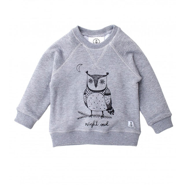 Bumble & Bee Organic Kidswear - Kids Sweater Night Owl