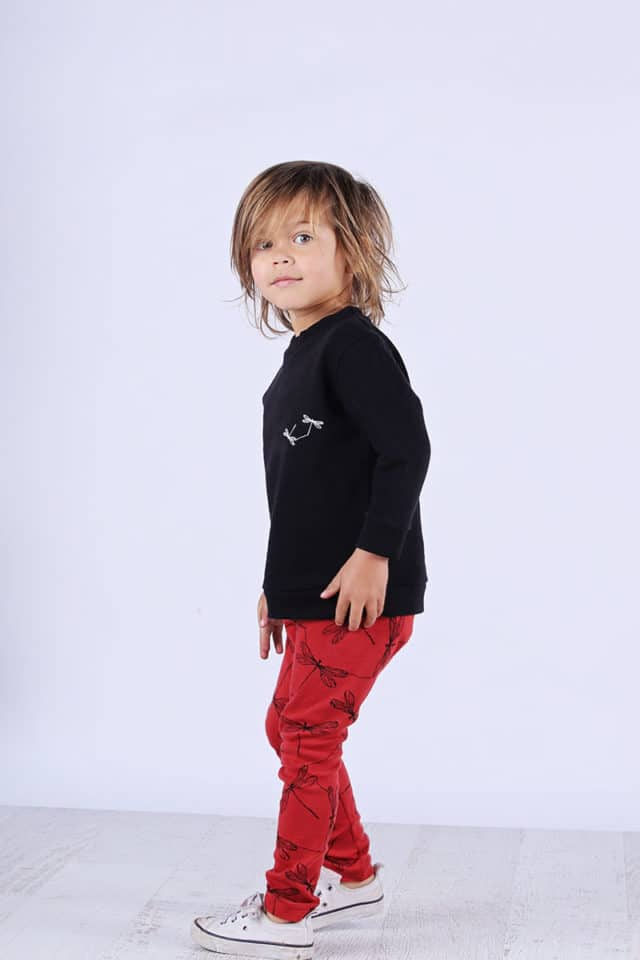 Mickey Rose Organic Kids Wear - Kids Leggings, Dragon Fly