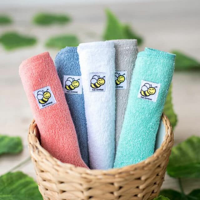 Baby BeeHinds Cloth Nappies - Cloth Wipes, Mixed Colours in Basket