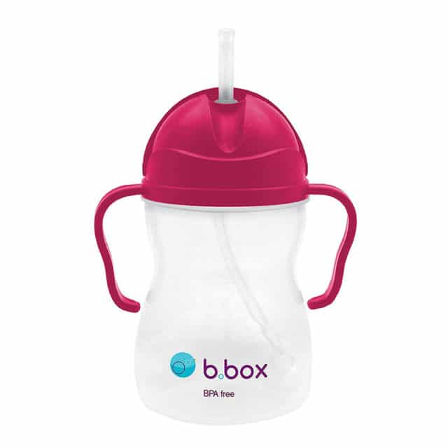 b.box - Sippy Cup with Weighted Straw - Raspberry
