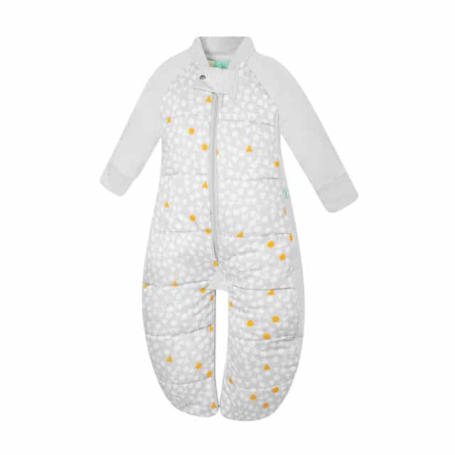 ergoPouch - Organic Sleep Suit - Triangle Pops 3.5 TOG, as Overalls