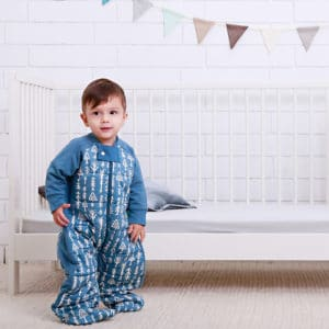 ergoPouch - Organic Sleep Suit, Midnight Arrow, Child Standing