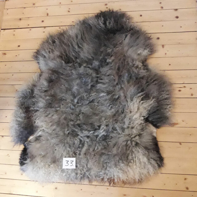 Sheepskin From Our Organic Farm, Long Wool, Number 33