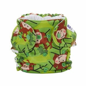 Baby BeeHinds Cloth Nappies - Pocket Nappy Monkey Fun, Front