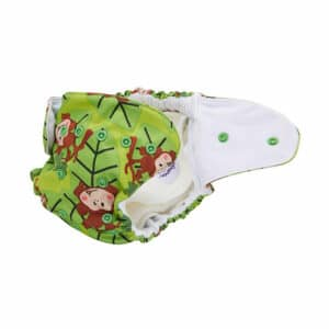 Baby BeeHinds Cloth Nappies - Pocket Nappy Monkey Fun, Open