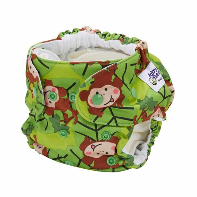 Baby BeeHinds Cloth Nappies - Pocket Nappy Monkey Fun, Side