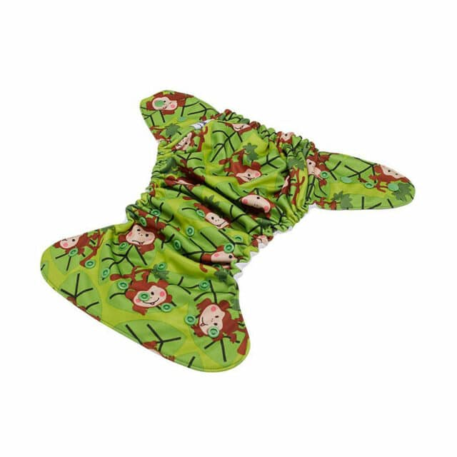 Baby BeeHinds Cloth Nappies - Pocket Nappy Monkey Fun, Outside