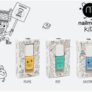 Nailmatic Kids - Non-toxic Water Based Nail Polish For Children - Plume, Rio and Gaston