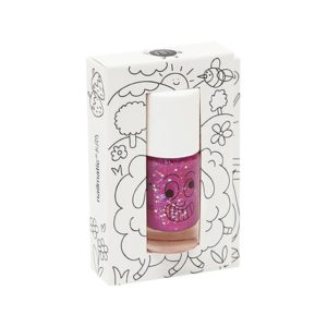 Nailmatic Kids - Non-toxic Nail Polish Sheepy, Raspberry Pink Glitter