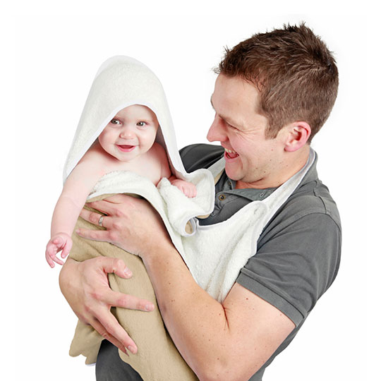 Cuddledry - Organic handsfree baby bath towel