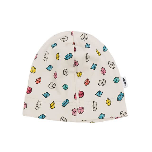 Who? by Stina Wirsén - Organic beanie with cubes
