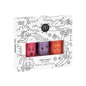Nailmatic Kids - Non-toxic Water Based Nail Polish For Children - Jungle Set 3