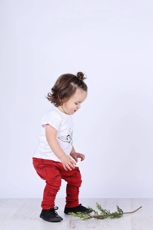 Mickey Rose Organic Kids Wear - Kids Leggings, Dragon Fly & T-shirt, Bee