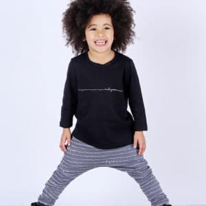 Mickey Rose Organic Kids Wear - Black T-shirt