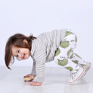 Mickey Rose Organic Kids Wear - Sweater, Poet & Leggings, Leaf