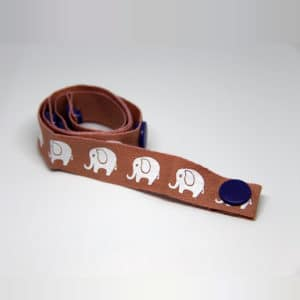 By Claudia - Toy Strap with Elephants, Pink