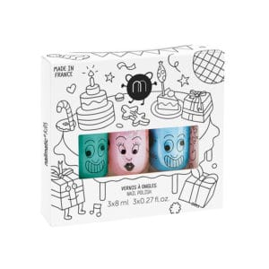 Nailmatic Kids - Non-toxic Water Based Nail Polish For Children, Set of three, Party
