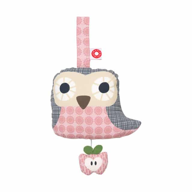 Else Pink Owl Musical Toy Baby