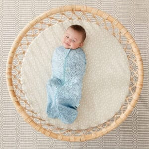 ergoPouch Swaddle Pebble arms inside