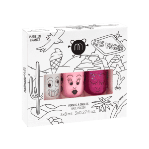 Nailmatic Kids - Non-toxic Water Based Nail Polish Set of Three - Las Vegas