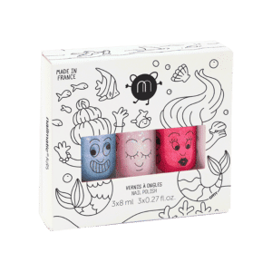 Nailmatic Kids - Non-toxic Water Based Nail Polish - Set of three Mermaid