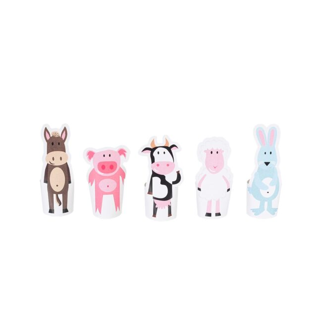 Pukaca Paper Toys - Finger Puppets Farm Animals Overview