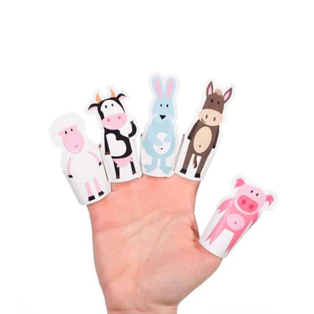 Pukaca Paper Toys - Finger Puppets Farm Animals