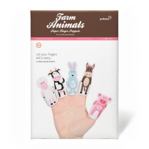 Pukaca Paper Toys - Finger Puppets Farm Animals Packaging