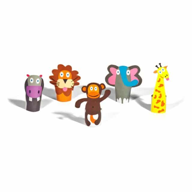 Pukaca Paper Toys - Finger Puppets Jungle Overview