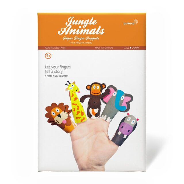 Pukaca Paper Toys - Finger Puppets Jungle Packaging