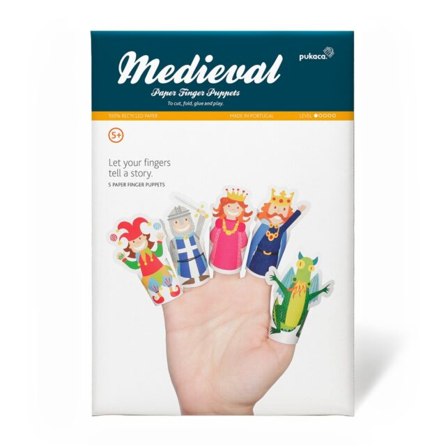 Pukaca Paper Toys - Finger Puppets Medieval Packaging