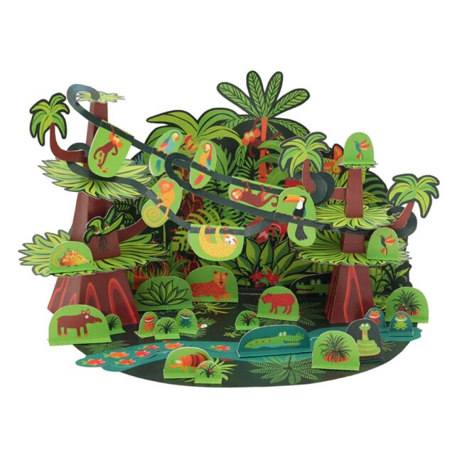 Pukaca Paper Toys - Playset Tropical Forest