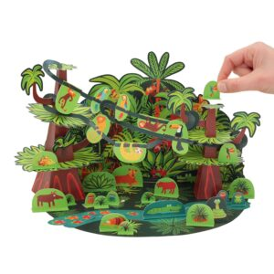 Pukaca Paper Toys - Playset Tropical Forest Kids