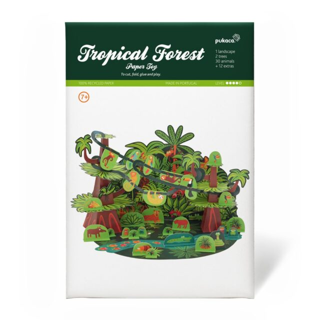 Pukaca Paper Toys - Playset Tropical Forest Packaging