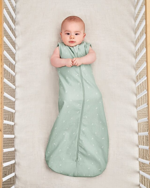 ergoPouch Jersey Sleeping Bag Sage, Cool Baby Cropped